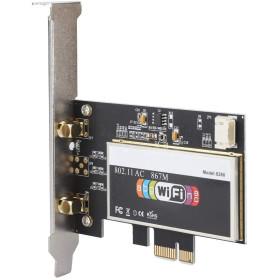Carte réseau PCI Express 867Mbp + Carte PCIe WiFi Double Carte LAN 802.11ac 2.4G / 5GHz pour PC de Bureau PCI x1 Bluetooth 4.2