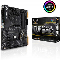 Carte mère gaming AMD B450 au format ATX ASUS Aura TUF B450-PLUS GAMING