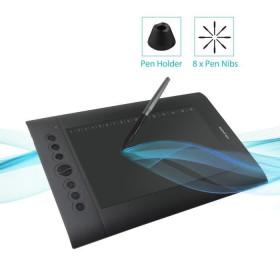 Tablette dessin graphique stylet sans pile pro haute précision avec 8 plumes